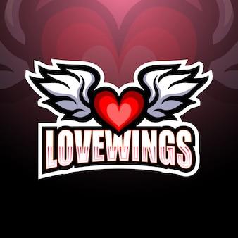 天使の翼eスポーツロゴイラスト
