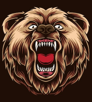 Anger bear vector