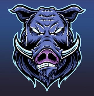 Anger pig logo
