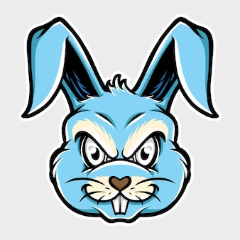Гнев кролик голова талисман