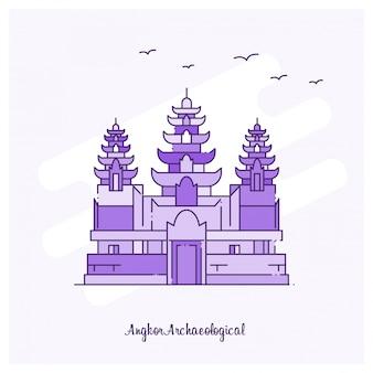앙코르 유적지 프리미엄 벡터