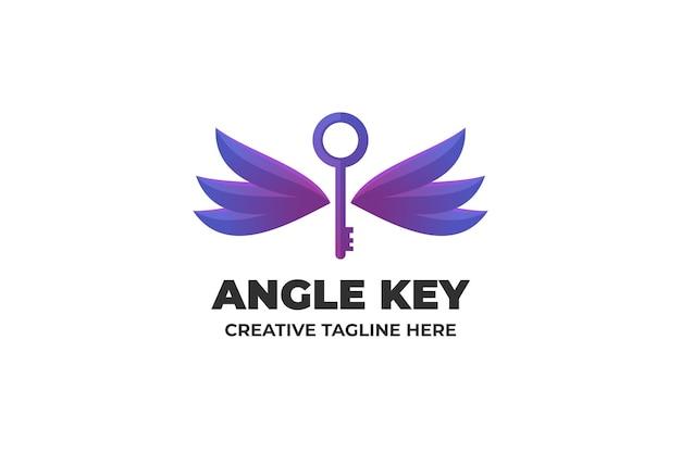 Angle key gradient logo business
