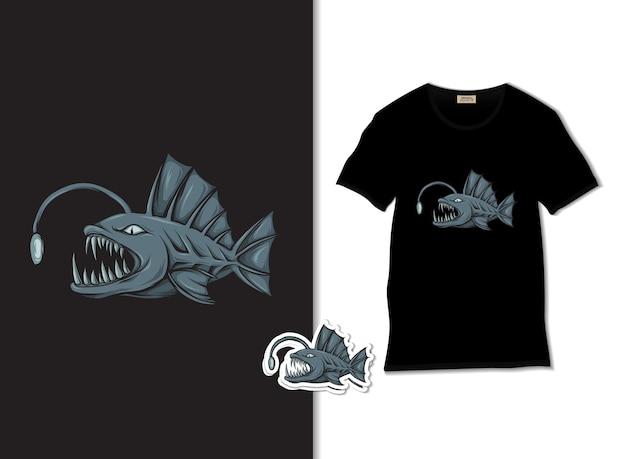 Иллюстрация рыбы рыболова