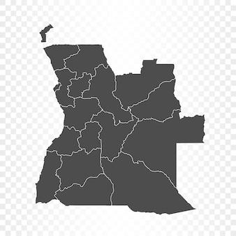 透明に分離されたアンゴラの地図