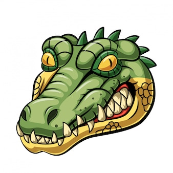 Angry alligator head mascot design