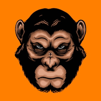 Angry ape illustration