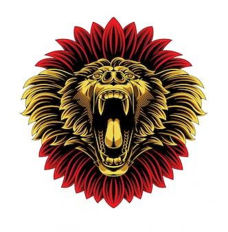 Angry baboon monkey face mascot logo