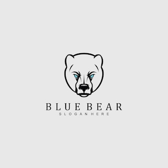 Angry bear head logo for any company
