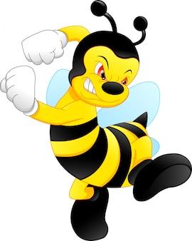 Angry bee cartoon