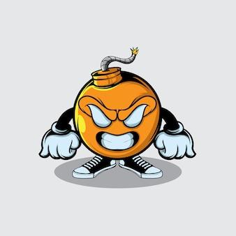 Яркая бомба иллюстрация характера