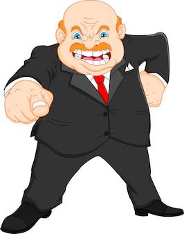 怒っているボス。怒っている実業家