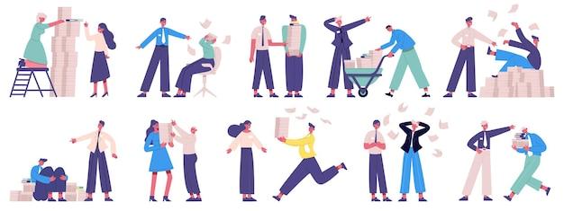 Злые боссы. неблагоприятная атмосфера офисной бизнес-команды, неорганизованные, ленивые работники и злой босс
