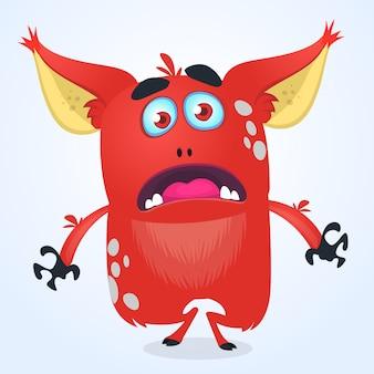 Angry cartoon monster. halloween