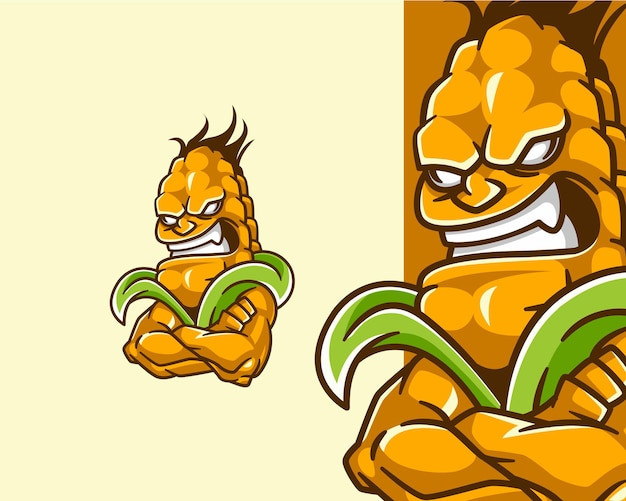 Angry corn demon monster creature character