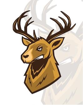 Angry deer mascot
