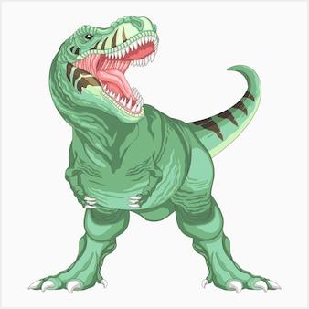 Angry dinosaur full body illustration