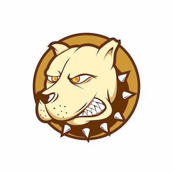 Angry dog cartoon logo icon