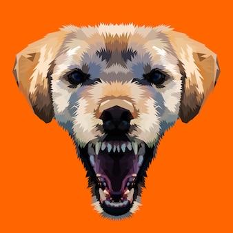 怒っている犬の頭