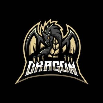 Злой дракон иллюстрация для игр