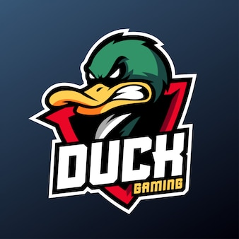 Angry duck for sport and esports logo