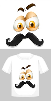 Angry face with moustache