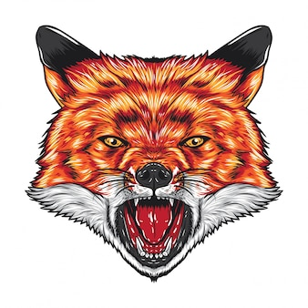 Angry fox face
