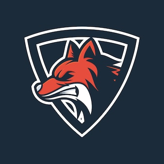 Angry fox head logo vector