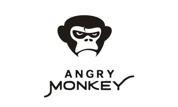 怒っているゴリラ/猿のイラスト