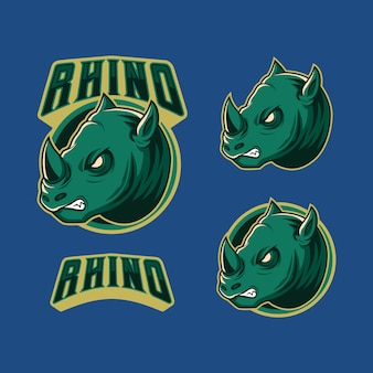 Angry green graphic mascot esport logo vector