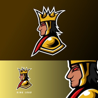 Angry king gaming sport esport logo template gold war uniform