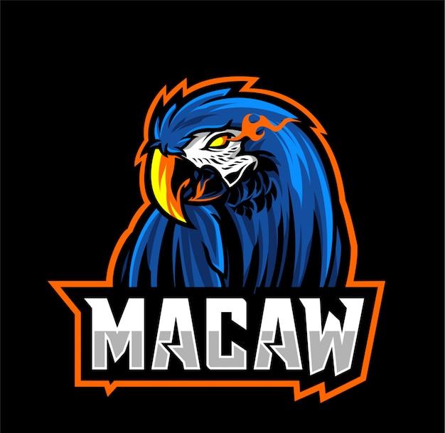 Angry macaw logo esport