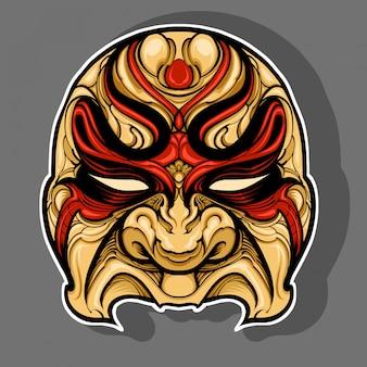 Angry mask for halloween