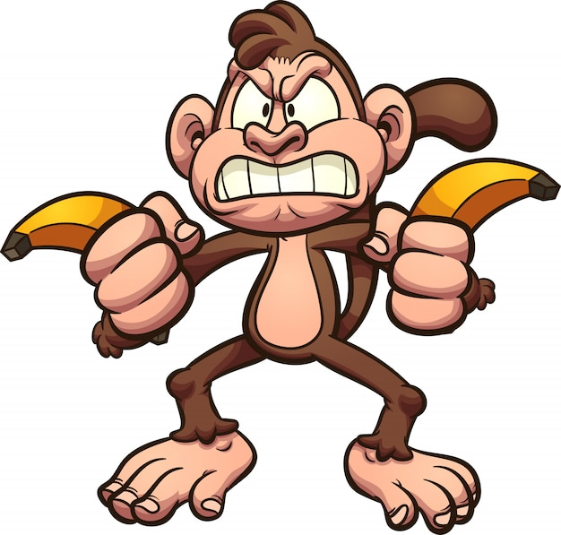 Angry monkey bananas