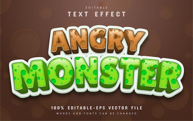 Angry monster editable text effect
