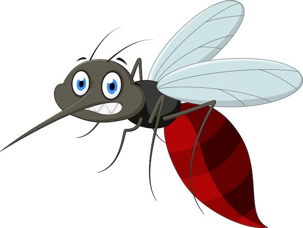 怒っている蚊の漫画