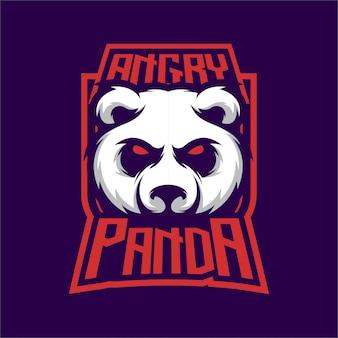 Angry pandaロゴマスコット