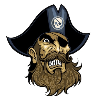 Angry pirate head