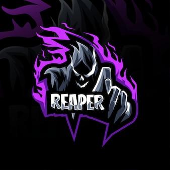 Angry reaper mascot logo