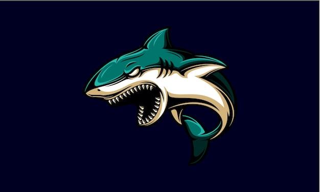 Angry shark   logo