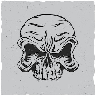 怒っている頭蓋骨のポスター
