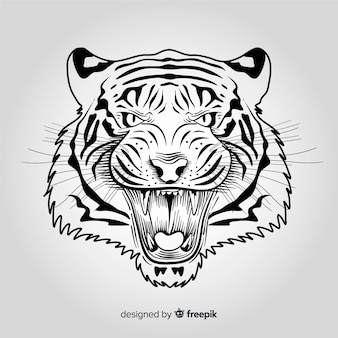 Angry tiger background