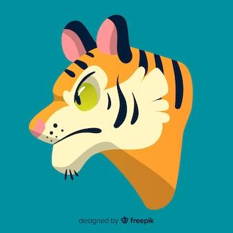 怒っている虎の背景