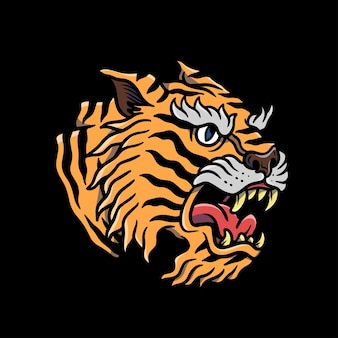 Angry tiger illustration