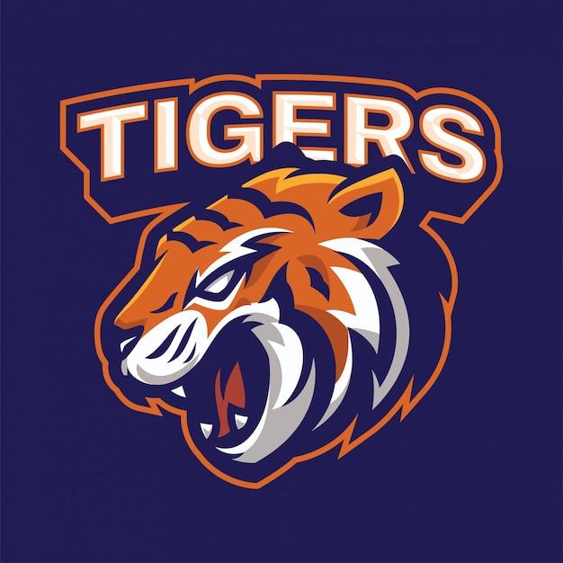 Angry tiger mascot logo