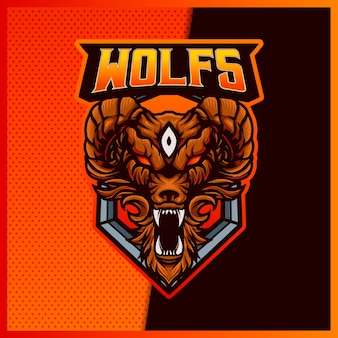 Angry wolves esport and sport mascot logo design