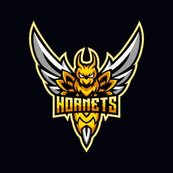 Angry yellow hornet esport mascot