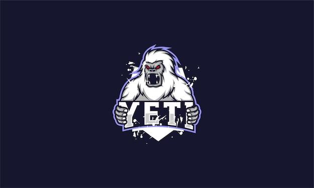 Angry yeti mascot template