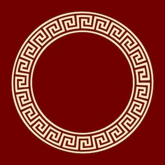 Рамка круглая меандр anient шаблон