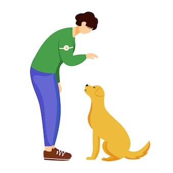 Animal adoption flat vector illustration.