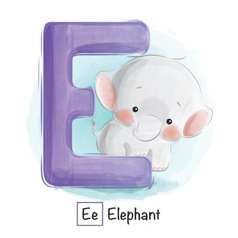 Animal alphabet - e